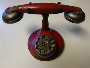 Vintage Tin Toy Phone 1930-40 Era