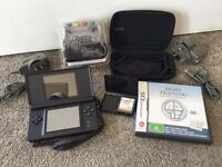 Nintendo DS Lite with 3 games and carry case