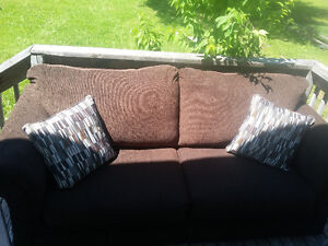 Brwon sofa + 2 Cushions ( purchased 3 months ago )