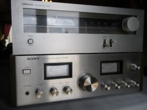 Vintage Stereo System Amplifier, Tuner and Speakers