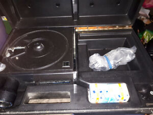 Slide Projector and Slide Scanner W/Case, Trays, Plus Extras