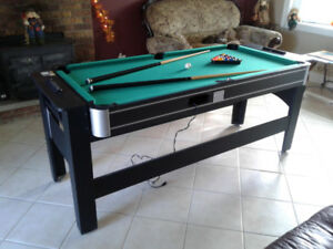 3 in 1 games table -pool, air hockey, ping pong