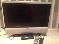 """25"""" Sharp TV with Philips Freeview Box"""