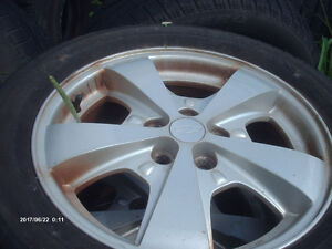 TRADE OR SELL-4 ALLOY RIMS&TIRES