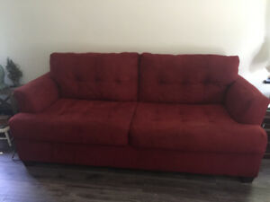 Sofa and Storage Stool Priced to Sell