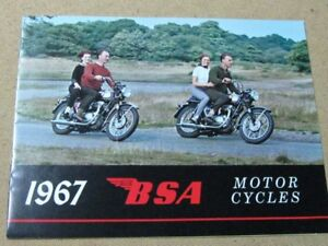 1967 BSA Full line of bikes,sales brochuer,and Manuals