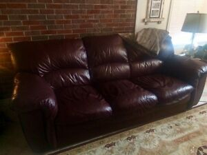 Amazing couch. Amazing deal. The coziest real leather couch'
