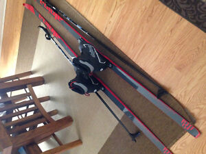 Men's Alpina Energy Skis, poles and boots