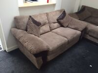 Brown sofa bed and double sofa for sale