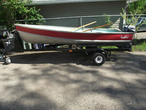 SELLING MY excellent 1985 14` boat,motor and trailer