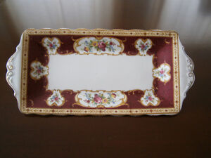 Exquisite Royal Albert Lady Hamilton Sandwich Tray & Candy Dish