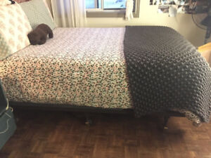 Double Bed Mattress, Box Spring and Frame