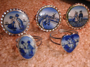 12 dozen vintage Dutch Rings, your Choice of 5 different styles