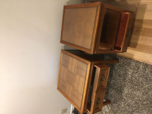 Solid wood coffee & 2 end tables
