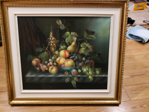 Vintage picture original oil painting