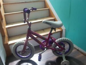 Child Bicycle with Training Wheels - barely used