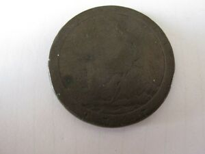 1797 BRITISH CARTWHEEL ONE PENCE UK GEORGE III PENNY BRITAIN.