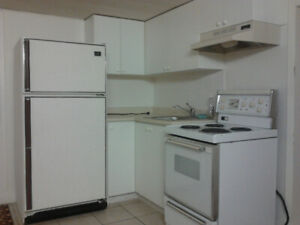1 Large bedroom bsmt apt for a Single! All-inclusive