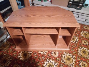 Wood TV stand for sale
