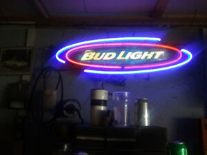 Neon sign, bud light