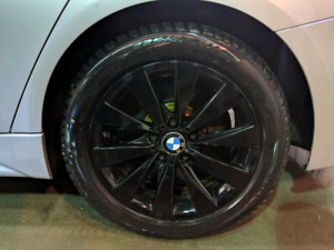 Bmw winter tires 225/50/17 and original Bmw rims/mags