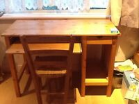 Solid pine study desk and chair