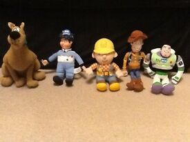 Scooby Doo, Chris from Roary The Racing Car, Bob The Builder, Woody/Buzz Lightyear from Toy Story
