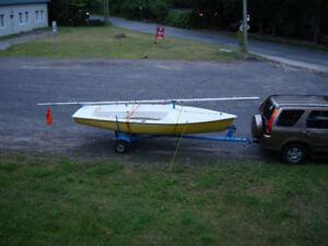 Bombardier 4.8 Dinghy type sailboat 16 with trailer.