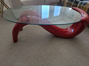 table modern rouge / red coffee table
