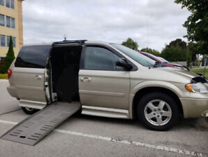 Wheelchair accessible handicap Van power ramp