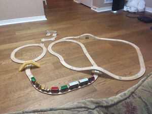 Large wooden train set for $200 or best offer