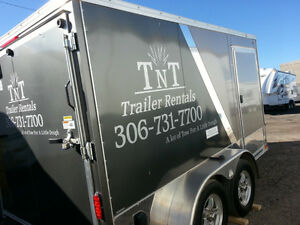 7 x 12 v-nose enclosed trailer for rent