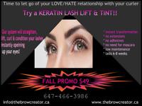 Keratin Lash Lift & Tint --FALL PROMO $49