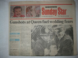 HISTORIC NEWSPAPERS- Gunshots at Queen