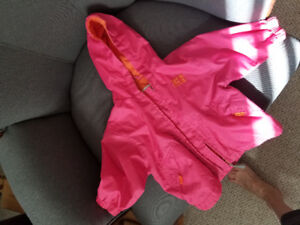 6 month old Girl's pretty pink rain coat in perfect shape $6