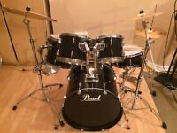 Pearl Export Series Drums with Hardware and Sabian Cymbals