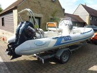 2006 MAKO 5.5m RIGID INFLATABLE BOAT (RIB) 75PHP each engine