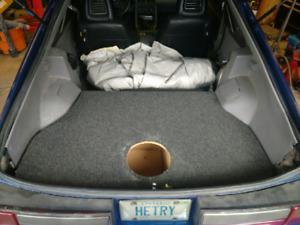 Mustang GT hatch subwoofer box