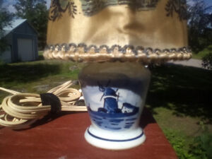 3 vintage delft pottery miniature table lamps all 3 for 45.00
