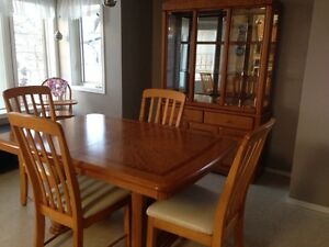 Dining Table 6 Chairs and China Cabinet