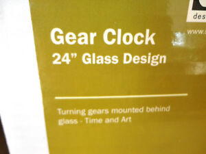 "Oversized 24"" Diameter Moving Gear Clock w/ Glass Face Kitchener / Waterloo Kitchener Area image 10"