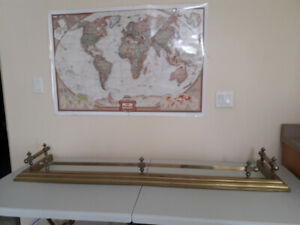 BRASS ANTIQUE FIREPLACE FENCE