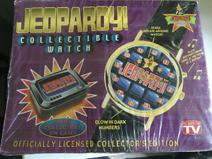 Collectible Jeopardy Watch in Collectors tin