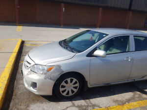 Toyota corolla 2013 for sale as is