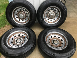 4 - 225 75 15 tires and rims