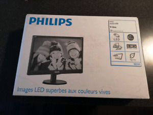 """Phillips 20"""" LED Computer Monitor - Brand New"""
