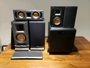 Klipsch 5.1 home theater surround system + pioneer reciever