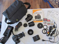 SONY Alpha A350 DSLR 14.2 MP: 4 lenses + accessories & 35 mm