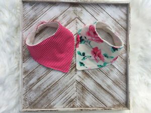 Set of Baby Bibs With A Striped Print