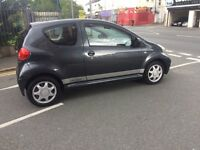 07 Plate Toyota AYGO 1.0 , 1 yr Mot , £20 yr Tax, Metallic Grey , Choice of 2